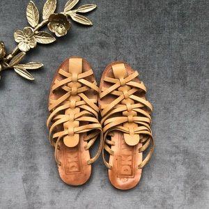 DKNY leather gladiator sandal slip on mules